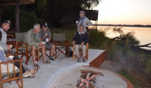 Guests at Sunrise Lower Zambezi Lodge